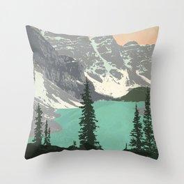 Moraine Lake Poster Throw Pillow