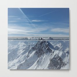 Winter Court Metal Print
