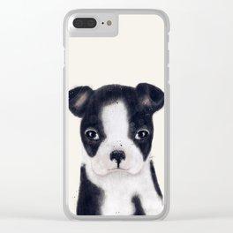 little boston terrier Clear iPhone Case