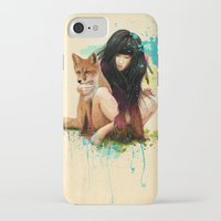hearts iPhone & iPod Cases featuring Fox Love by Ariana Perez