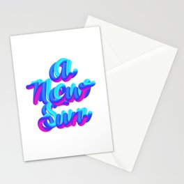 A new sun typography 3d M83 Stationery Cards