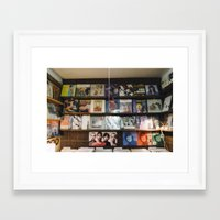 records Framed Art Prints featuring Records by Jonathan Percy