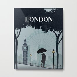 London vintage poster travel Metal Print