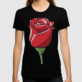 Red Ecuador Rose Flower T-shirt