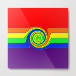 Rainbow With A Headache Metal Print