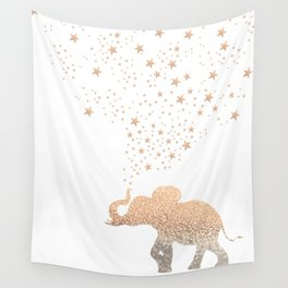 GOLD ELEPHANT Wall Tapestry