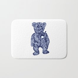 little bear blue Bath Mat