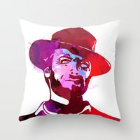 harry Throw Pillows featuring Harry  by BIG Colours