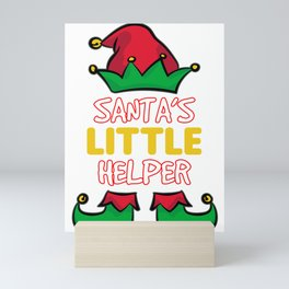 SANTA'S LITTLE HELPER Mini Art Print