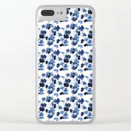Floral Spindle Pattern Clear iPhone Case