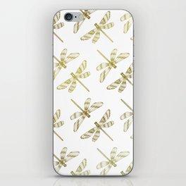Golden Dragonflies iPhone Skin