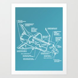 Space Shuttle Breakdown Art Print