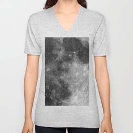 Black & White Moon Unisex V-Neck
