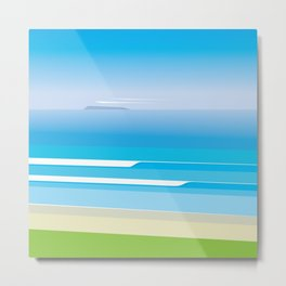 Sunny Beach — View from Omanu Beach Metal Print