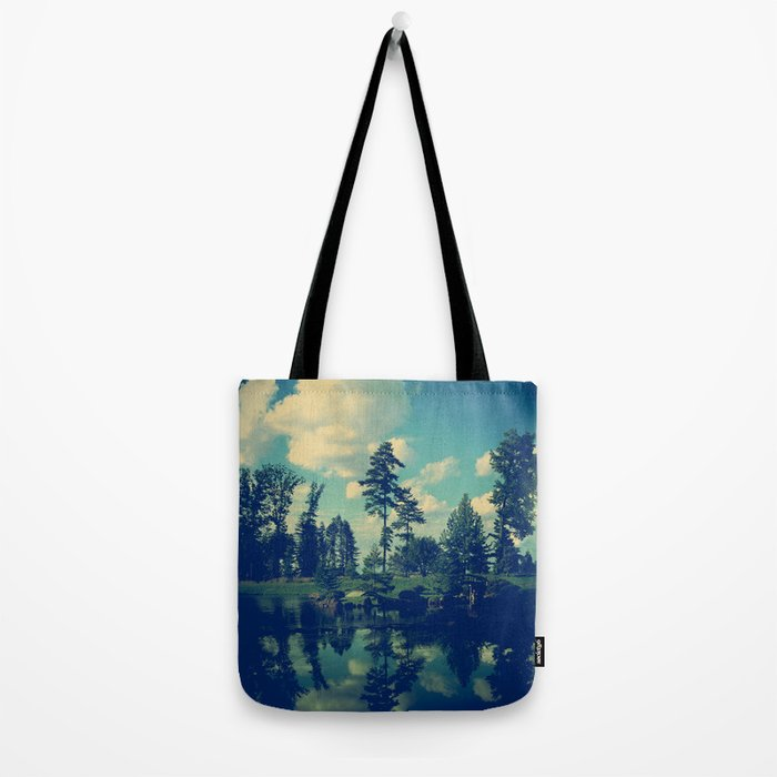 Yesterday Evening at the Lake Tote Bag