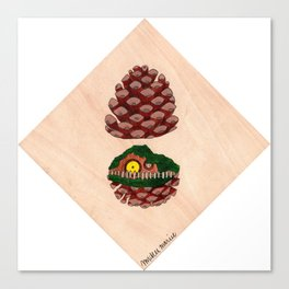 Home Sweet Pinecone Canvas Print