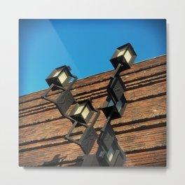 Old Wall Geometry Metal Print