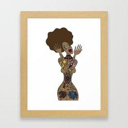 ink my hole body Framed Art Print