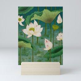 Lotus flowers A -  Minhwa-Korean traditional/folk art Mini Art Print