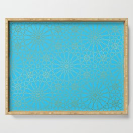 Moroccan Nights - Gold Teal Mandala Pattern - Mix & Match with Simplicity of Life Serving Tray
