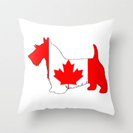 "Scottish Terrier ""Canada"" Throw Pillow"