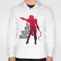 britney Hoodies featuring Britney Circus by Tadeu Marques