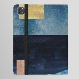 Blue Whale - Gold, Copper And Deep Blue iPad Folio Case