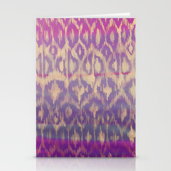 Ikat2 Stationery Cards
