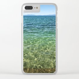 Keep Tahoe Ombre Clear iPhone Case