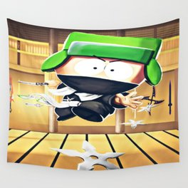 Ninja Kyle Wall Tapestry