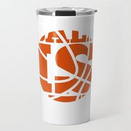 Ball is Life Graphic Basketball Sporting T-shirt Travel Mug