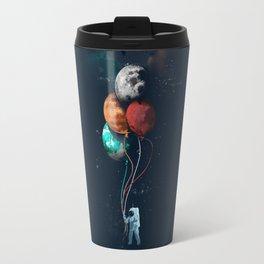Astronauts and Planet Balloon Travel Mug