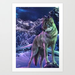 The Way of the Wolf Art Print