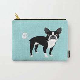 Boston Terrier funny fart dog pure breed gifts dog lovers Carry-All Pouch