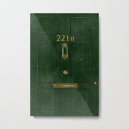 221B Door Metal Print