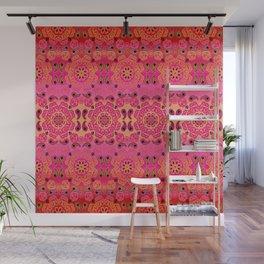 Pink Haze Bandana Ombre' Stripe Wall Mural