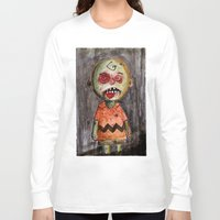 charlie brown Long Sleeve T-shirts featuring You're a zombie Charlie Brown by byron rempel