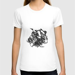 """On The Backstretch"" Horse Racing, Thoroughbred, Saratoga, EQUESTRIAN, T-shirt"