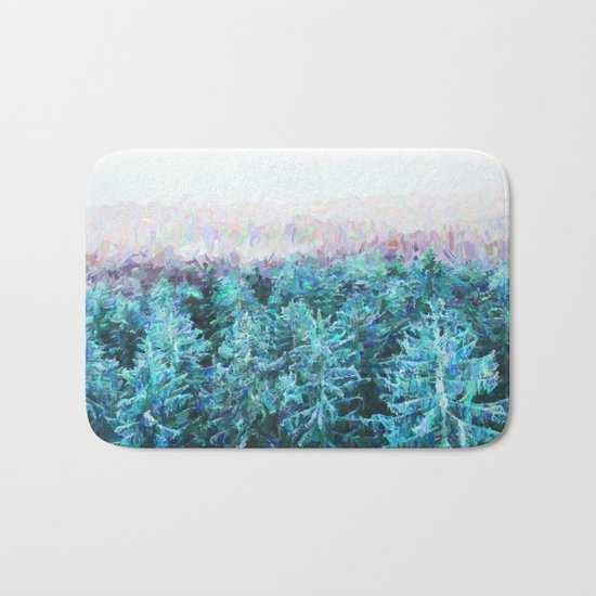 Tree Tops #society6 #buyart #decor Bath Mat