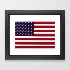 American flag with painterly treatment Framed Art Print