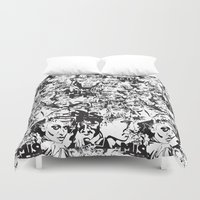 community Duvet Covers featuring Community Blowback by InariRaith