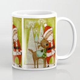 Travelin' Buddies - Santa and his reindeer friend by Diane Duda Coffee Mug