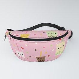 Happy Boba Bubble Tea Pink Fanny Pack
