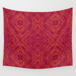 Tile Design Hot Pink Wall Tapestry