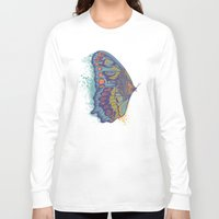 cycle Long Sleeve T-shirts featuring Butterfly Life Cycle by Rachel Caldwell