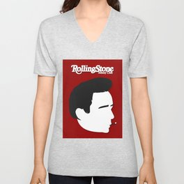 Johnny Cash, Minimalist Rolling Stone Magazine Cover Unisex V-Neck