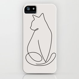 One Line Kitty iPhone Case