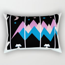 Colorful night Rectangular Pillow