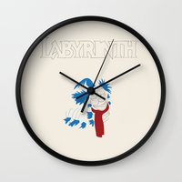 labyrinth Wall Clocks featuring Labyrinth by mgn.russ