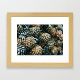 Tropical Pineapples Framed Art Print